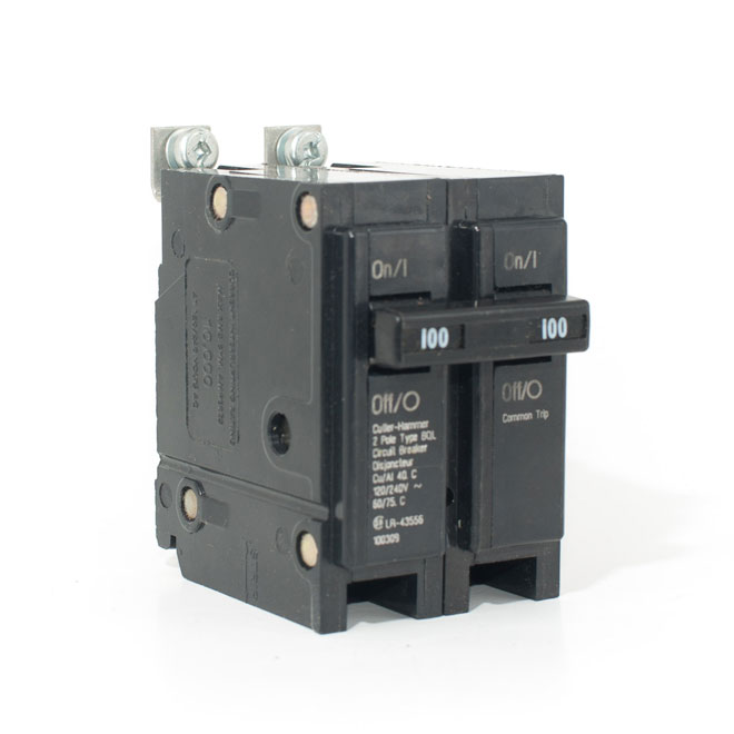 CUTLER-HAMMER 100 A/2P Bolt-On Replacement Breaker BQL2100 | RONA on electrical motors, electrical meters, electrical starters, electrical circuit, electrical covers and canopies, electrical can lights, electrical heaters, electrical battery, electrical manufacturing labels,