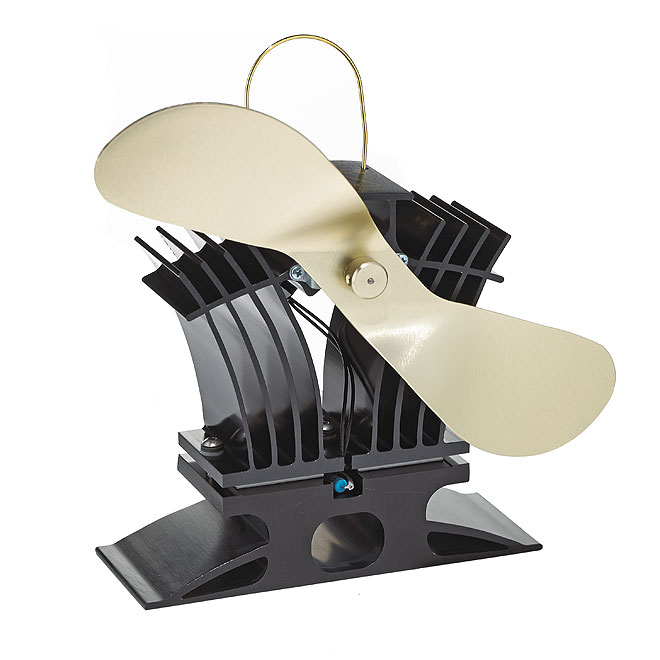 Ecofan for Gas or Pellet Stove - Black/Gold