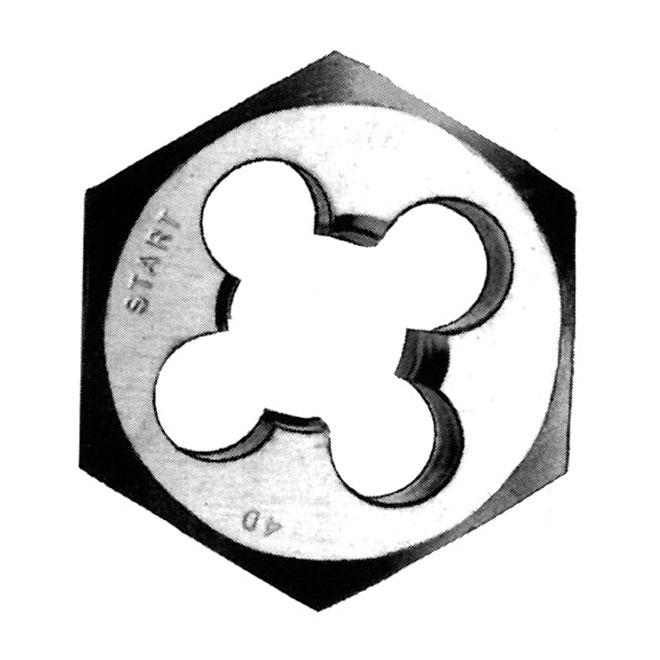 """Filière hexagonale fractionnée en acier carbone, 1/4"""" - 28 NF"""