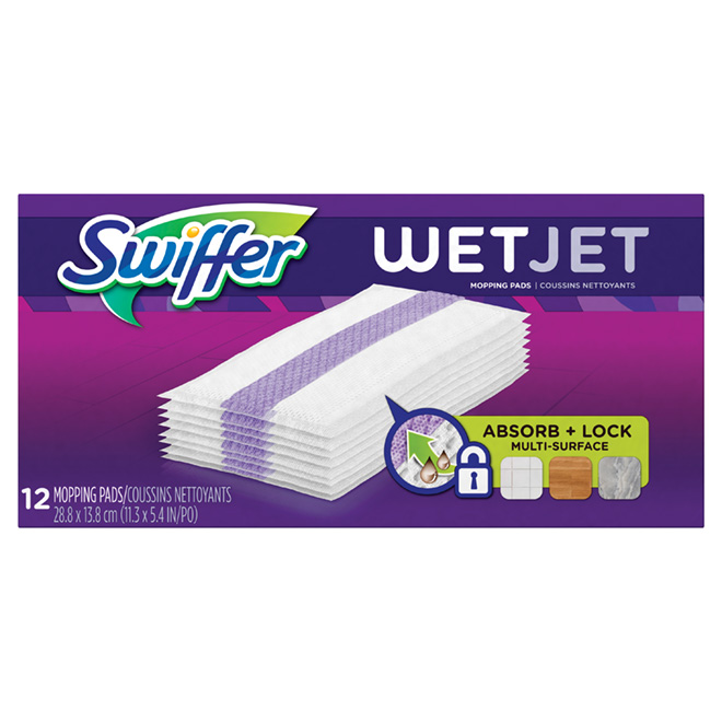 Swiffer Wetjet Power Mop Refill Cloth - 12/Box