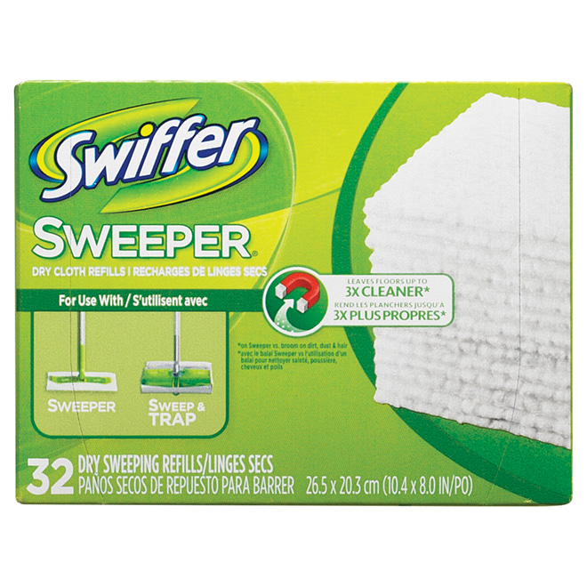 Recharge pour « Sweeper », « SweepVac », « Sweep and Trap »