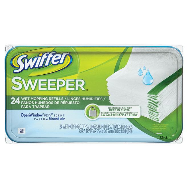 """Swiffer Sweeper"" Wet Mop Cloth Refill"