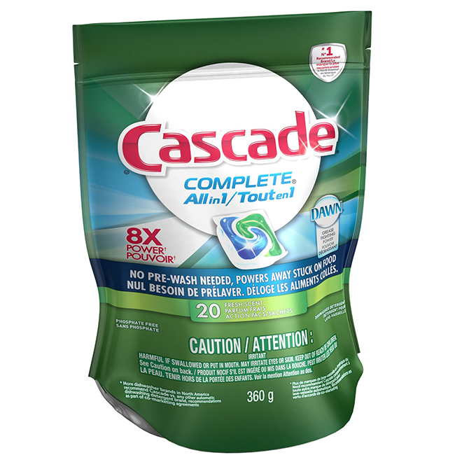 Cascade Dishwasher Detergent - Fresh Scent - 20 Action Pacs