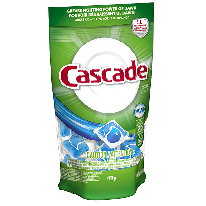 Dishwasher Detergent with Degreaser - 25-Pack