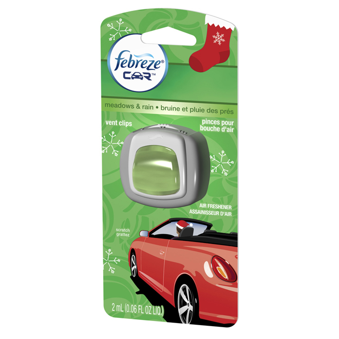 Vent Clip Car Air Refreshener - Meadows and Rain Scent - 2ml