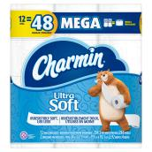 Bathroom Tissue - 12 Rolls - Ultra Soft - White