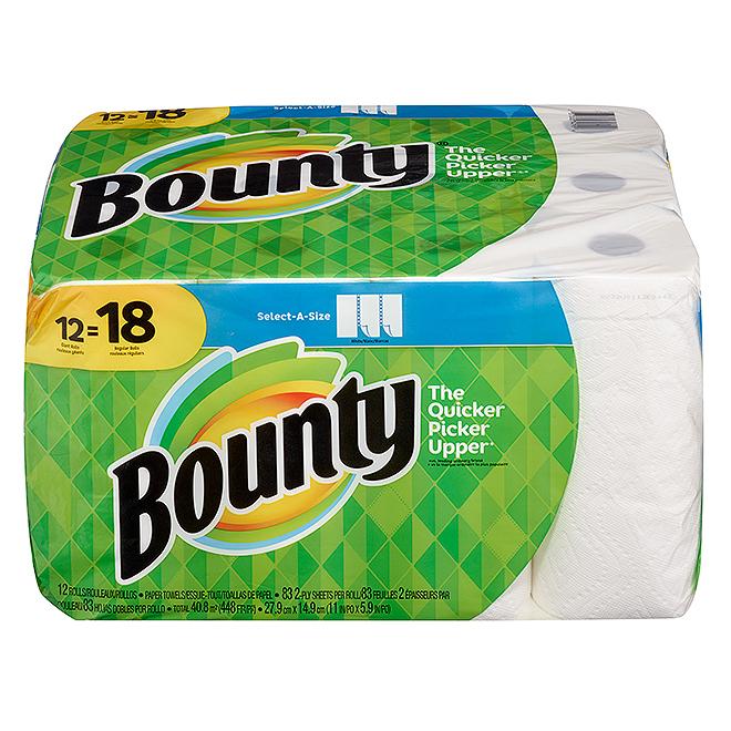 Bounty Paper Towels - 12 Rolls
