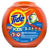 Détergent à lessive en capsules Tide Pods Original, paquet de 42 capsules