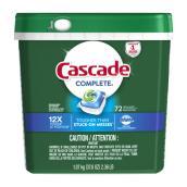Détergent pour lave-vaisselle Cascade Complete, 72 sachets