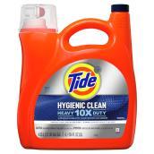 Détergent à lessive liquide Tide Hygiene Clean Heavy 10x Duty parfum original, 4,55 l