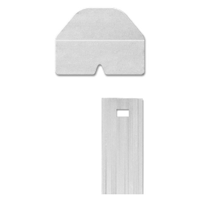 Lamelles verticales 4' pour clôture intimité, blanc, pqt/80