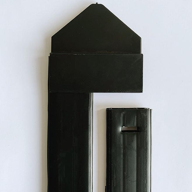 Master Halco Privacy Slats - PVC - 4' - Black - 80/Pack