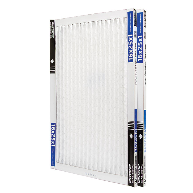 Duststop 16-in x 25-in x 1-in Premium Electrostatic Pleated Air Filter - 2/Pack