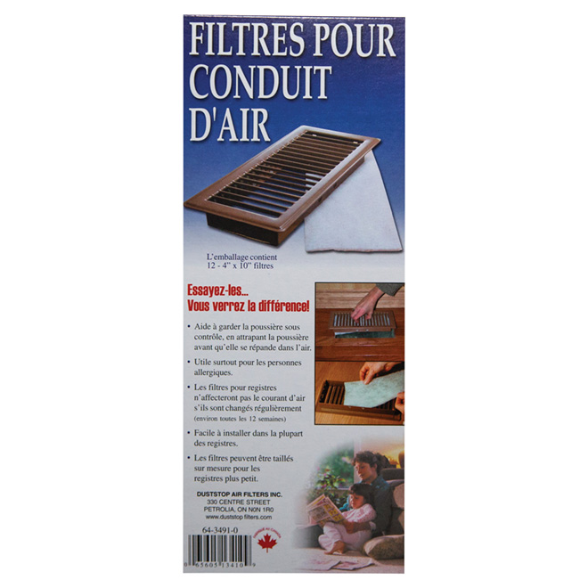 """Air Vent Filters - 4"""" x 10"""" - 12-Pack"""