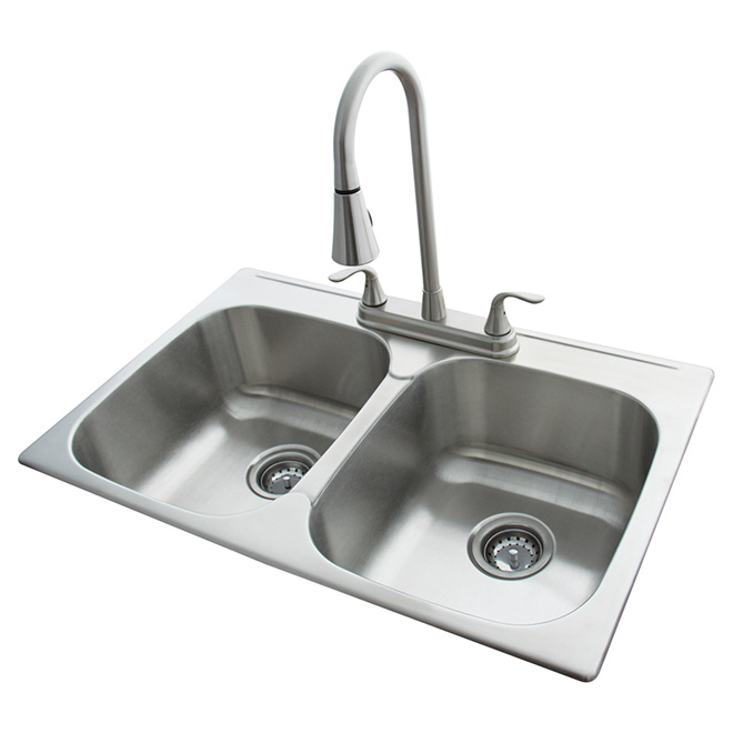 Double Kitchen Sink With Faucet | RONA