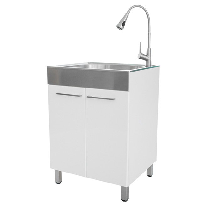 garden wyndenhall faucet with sink laundry and steel hartland inch stainless home ecfc product cabinet