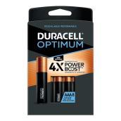 Piles alcalines AAA Duracell Optimum, 8/pqt
