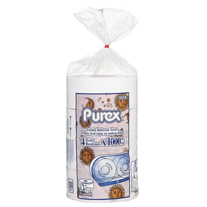 """Purex"" Bathroom Tissue - 2-Ply Jumbo Roll - Pack of 4"