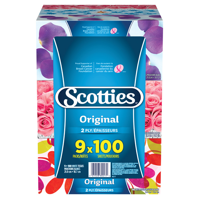 Scotties Facial Tissues - 2-Ply - 9-Pack