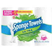 Sponge Towels Ultra - Paper Towels - 2-Ply - 6 Rolls