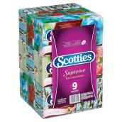 Papier-mouchoir Scotties Supreme, 3 épaisseurs, paquet/9