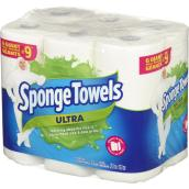 SpongeTowels - Paper Towels - Ultra Giant - 6/Pack