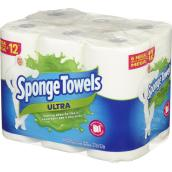 SpongeTowels - Paper Towels- Ultra - 2 Ply - Pack of 6