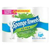Sponge Towels Ultra Paper Towels - 6 Giant Rolls
