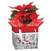 Potée fleurie, Entreprises Marsolais, sac cadeau, 4 po