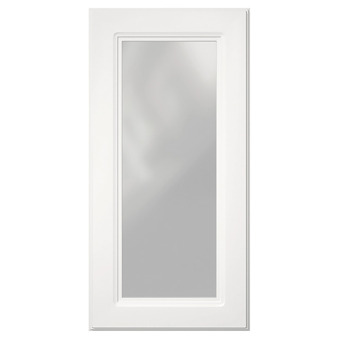 "Corner Cabinet Glass Door - Marquis - 24"" x 30"" - White"