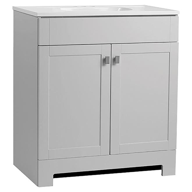 """Meuble-lavabo à 2 portes Leisel, 31"""" x 20"""" x 41"""", MDF, gris"""