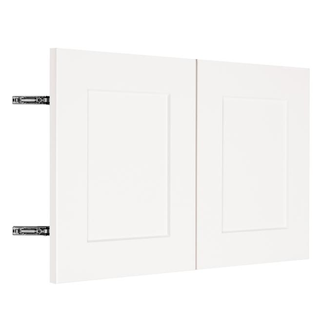 """Wall Cabinet Door - Vanilla Shake - 2 Doors - 30"""" x 18"""" - White"""