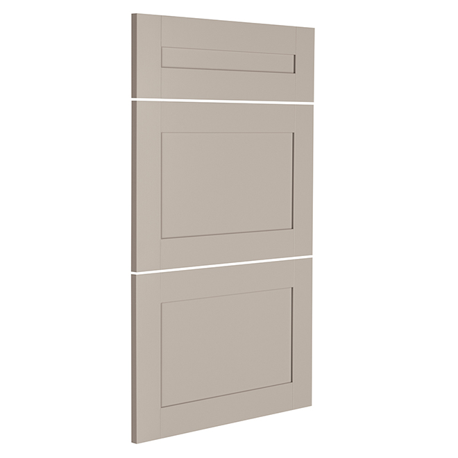 "Front Kit - 3 Drawers - Sea Salt - 18"" x 30"" - Grey"