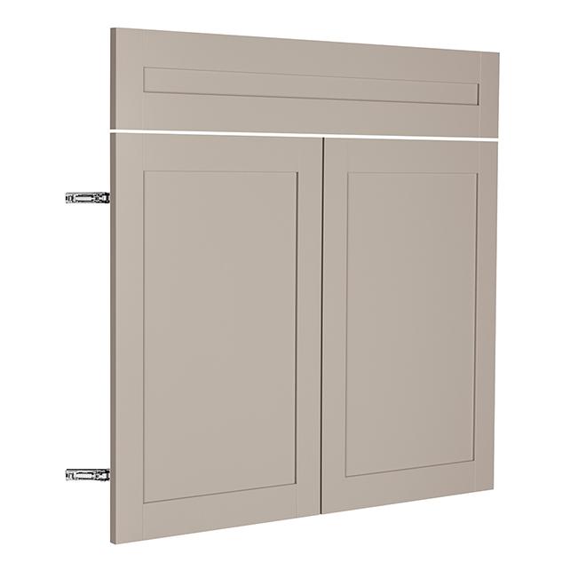 """Sink Cabinet Doors - Sea Salt - 2 Doors - 36"""" x 30"""" - Grey"""