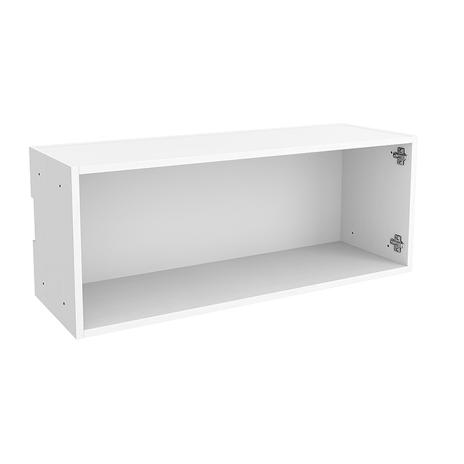 "Horizontal Wall Cabinet - Particle Board - 36"" x 14"" - White"