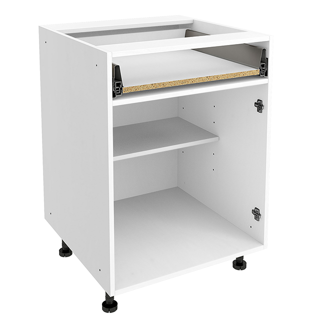 "Base Cabinet - 1 Drawer - 24"" X 30"" X 24"" - White"