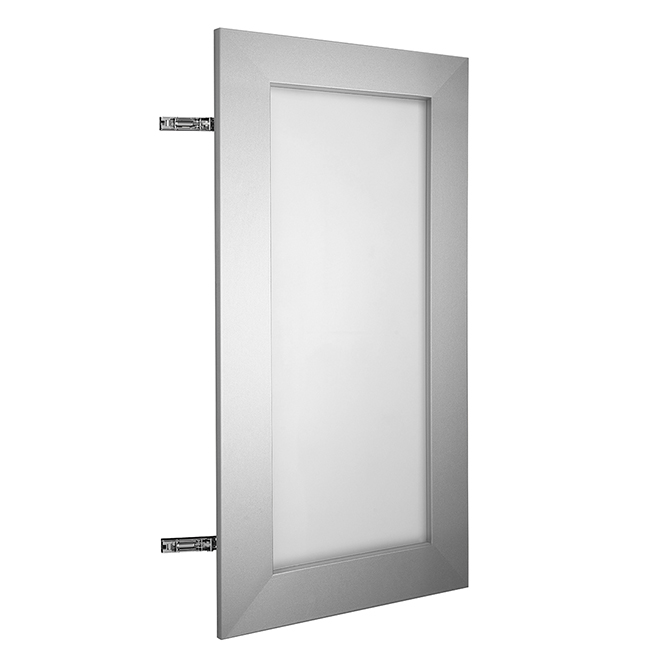 Cabinet Door Glass And Aluminum 24 X 30 Frosted