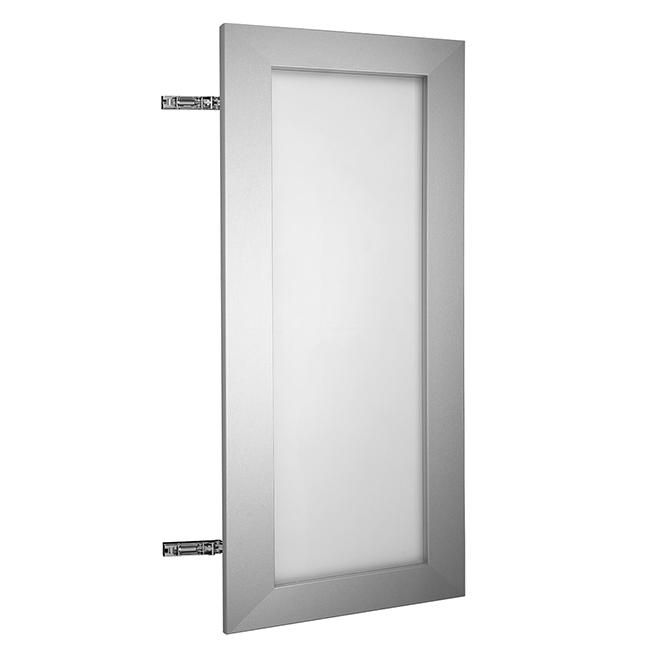 """Cabinet Door - Glass and Aluminum - 15"""" X 30"""" - Frosted Glass"""