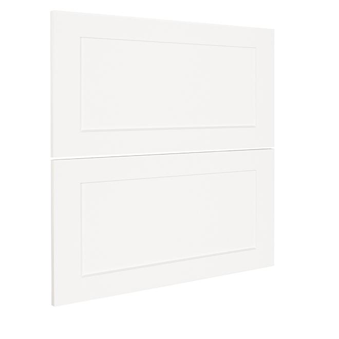 "Two-Drawer Cabinet Front - Vanilla Shake - 15"" x 30"" - White"