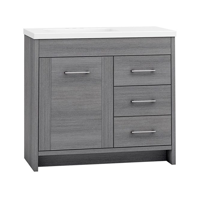 Master Brand Cabinet Waverly Vanity 36-in x 20-in Grey