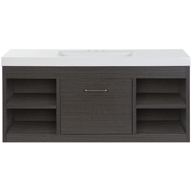 Master Brand Cabinet Vada Wall Hung Vanity 48-in x 18-in x 22-in Sable