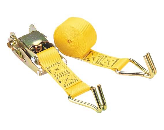 Ratchet Tie-Down - Yellow - 2'' x 15' - 5000 lb