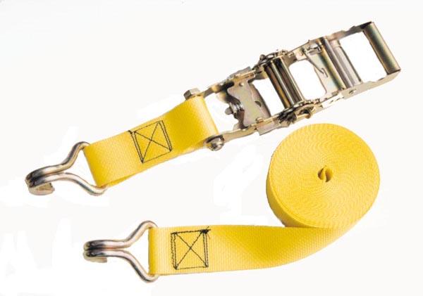 Ratchet Tie-Down - Yellow - 2'' x 25' - 5000 lb