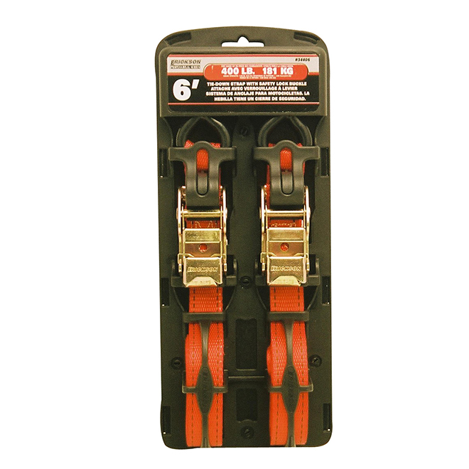 Tie-Down Strap - Orange - 1'' x 6' - 1200lbs