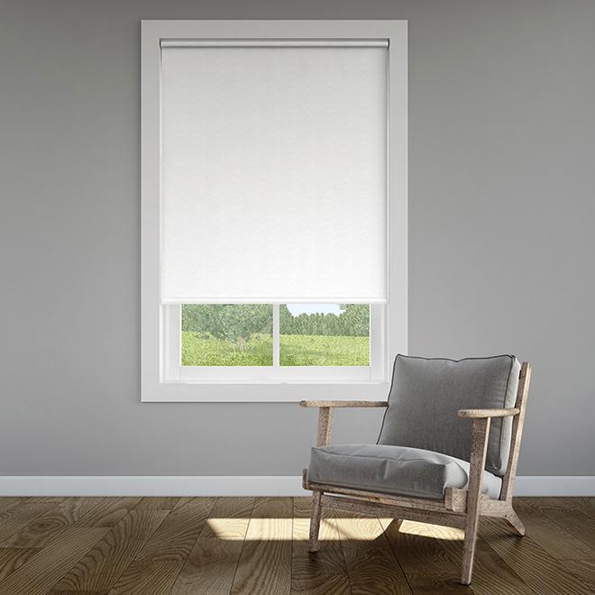 Toile enroulée, solaire, 37 po x 72 po, PVC, blanc/beige