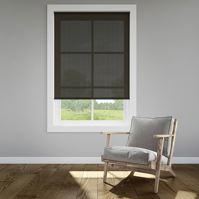 Levolor Roller Shade Cordless - UV Protection - 55-in x 72-in - Mocha