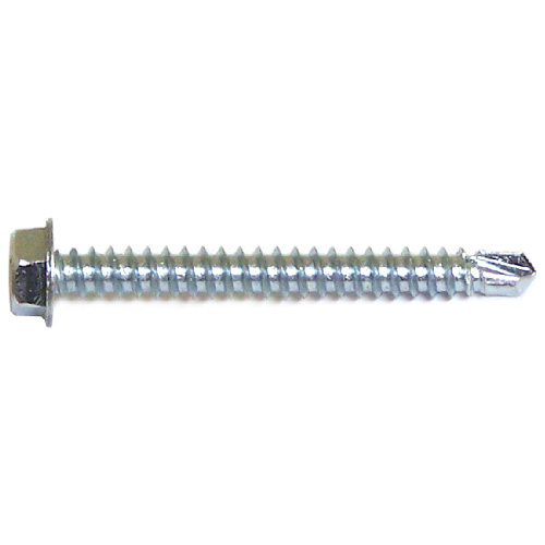 """Hex with Washer Self-Drilling Screws - #12 x 2"""" - 100/Box"""