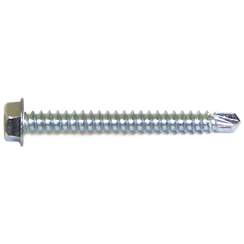 """Hex with Washer Self-Drilling Screws - #14 x 3"""" - 100/Box"""