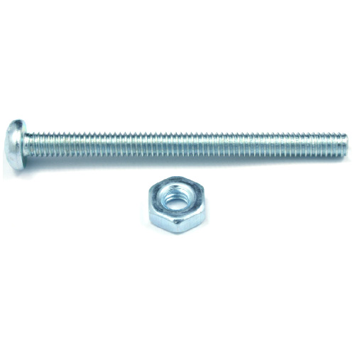 "Pan-Head Machine Screws with Nut - #10 x 4"" - 4/Box"