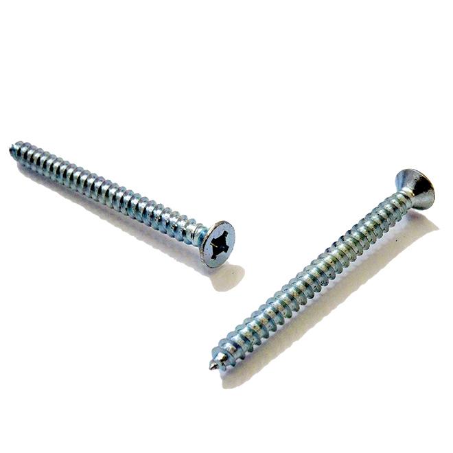 """Flat-Head Zinc-Plated Metal Screws - #10 x 3/4"""" - 100/Box"""